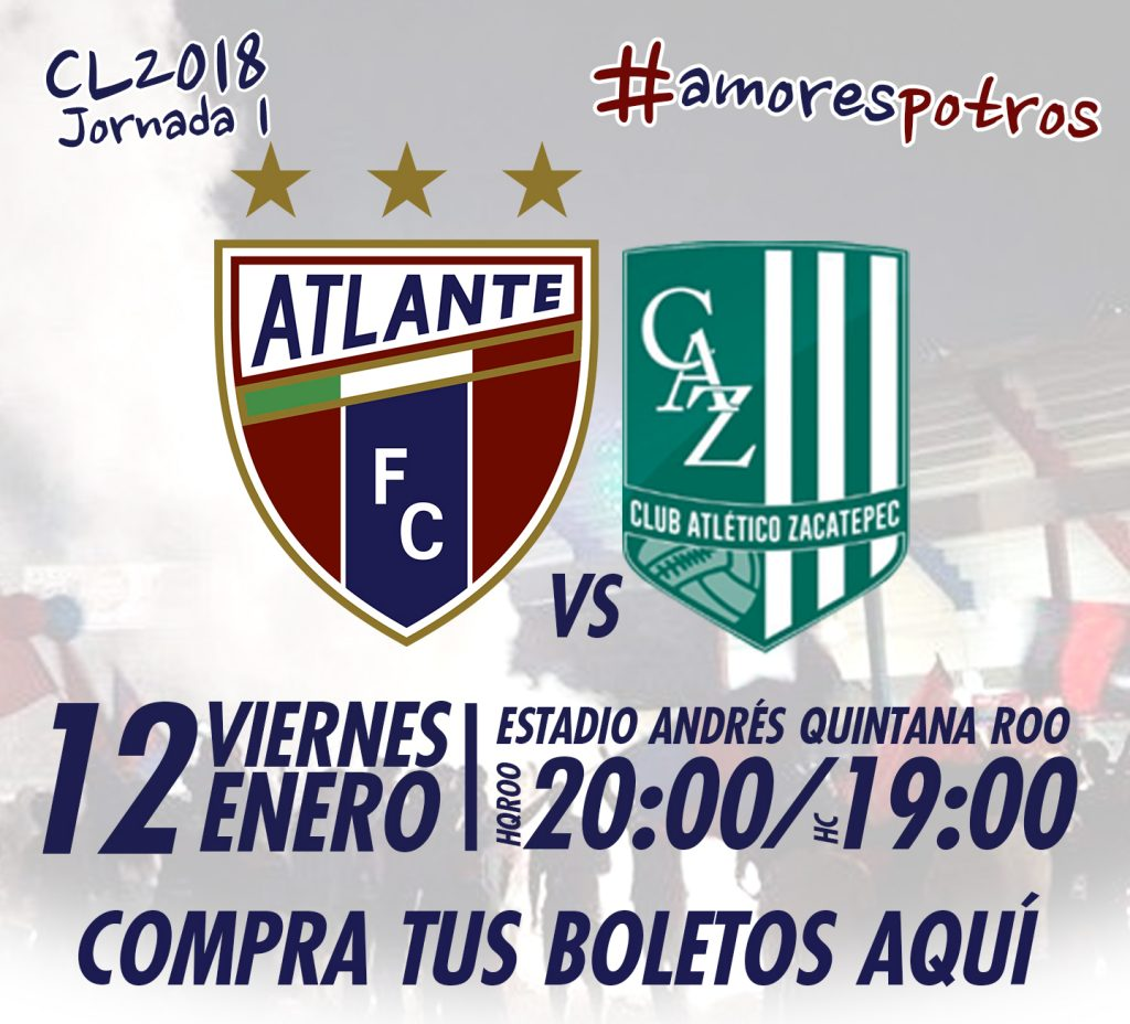 Atlante vs Atlético Zacatepec en Vivo TDN Ascenso MX 2018