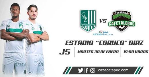 Atlético Zacatepec vs Cafetaleros en Vivo Online Ascenso MX 2018