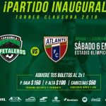 Cafetaleros vs Atlante en Vivo 2018 Ascenso MX 2018