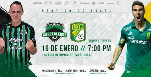 Cafetaleros vs León en Vivo 2018 Copa MX 2018