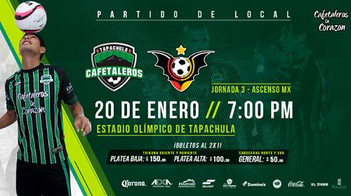 Cafetaleros vs Murciélagos en Vivo 2018 TVC Deportes Ascenso MX 2018