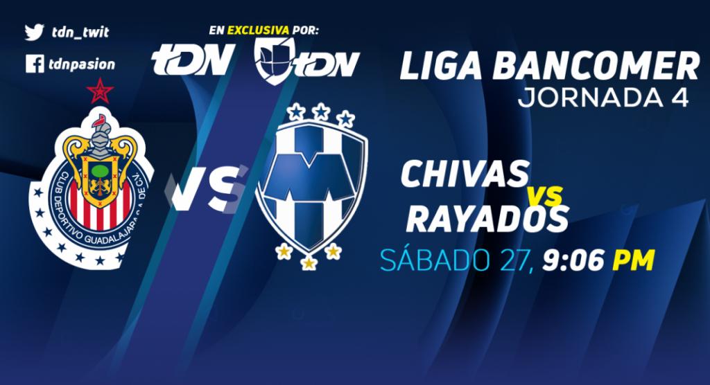 Chivas vs Monterrey en Vivo por Internet Liga MX 2018
