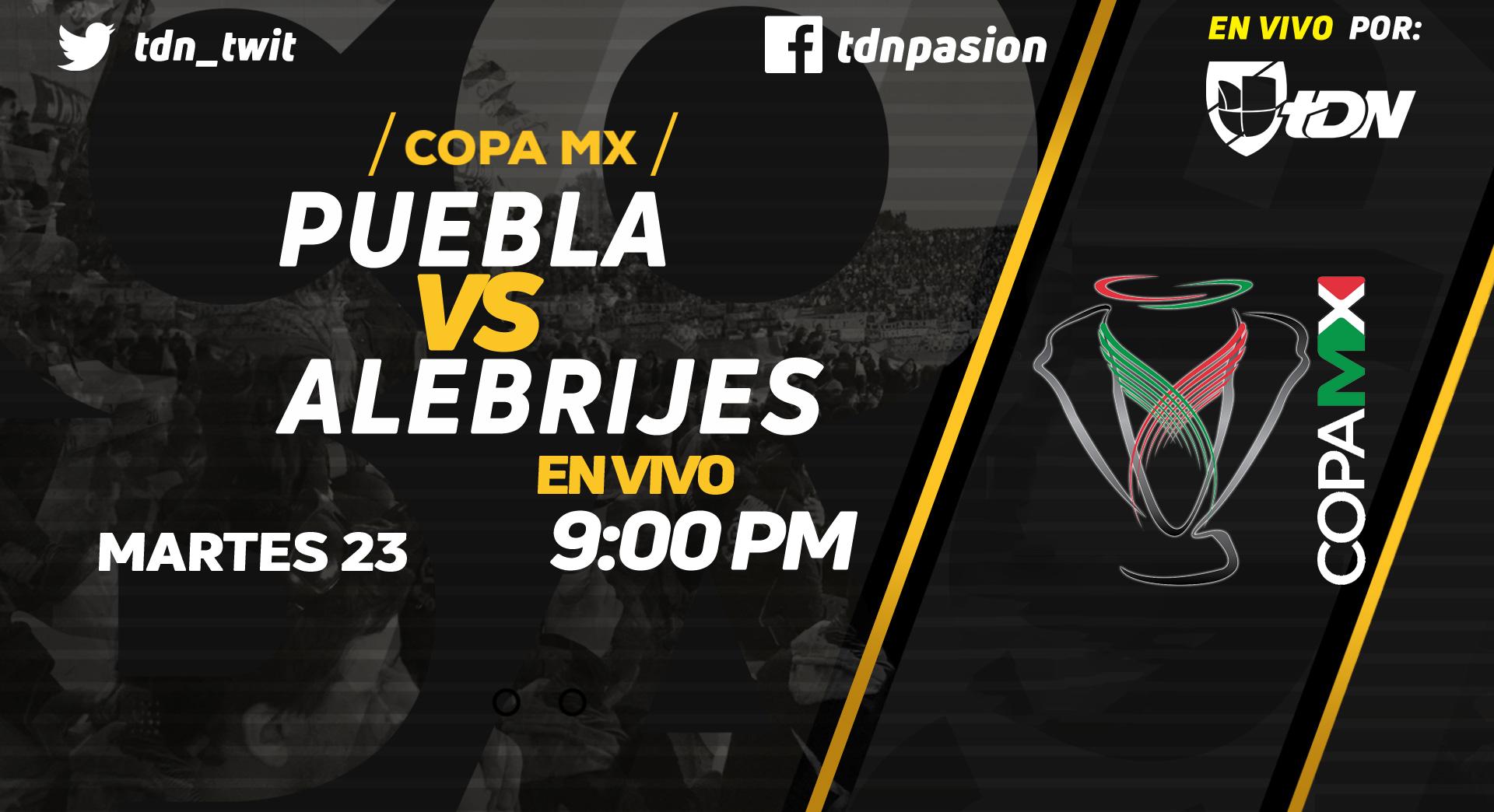 Copa MX en Vivo Puebla vs Alebrijes Copa MX 2018