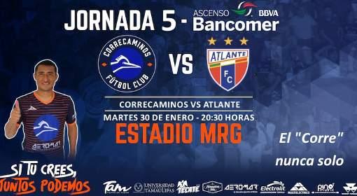 Correcaminos vs Atlante en Vivo por Internet Ascenso MX 2018