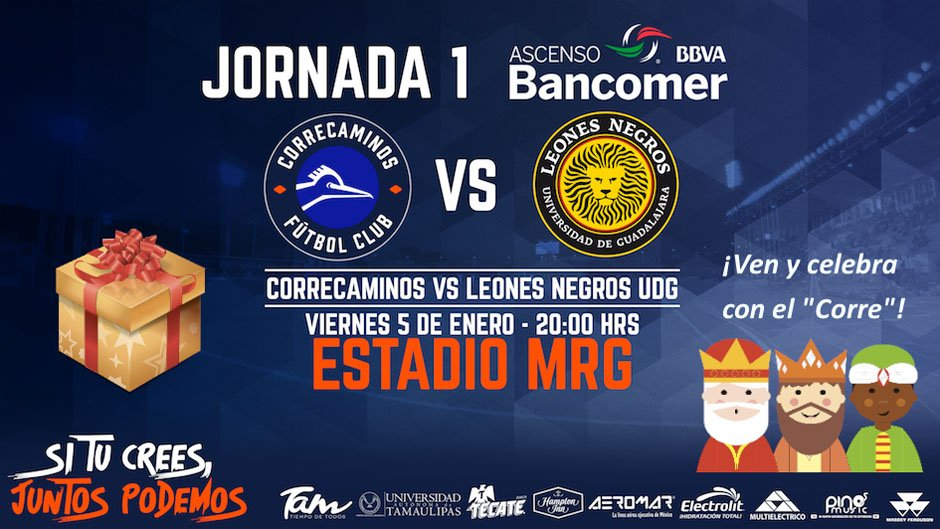 Correcaminos vs Leones Negros en Vivo 2018 Ascenso MX