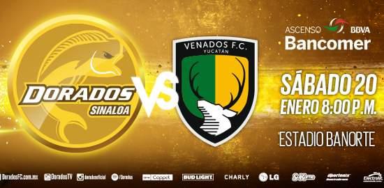 Dorados vs Venados en Vivo 2018 TVC Deportes Ascenso MX 2018