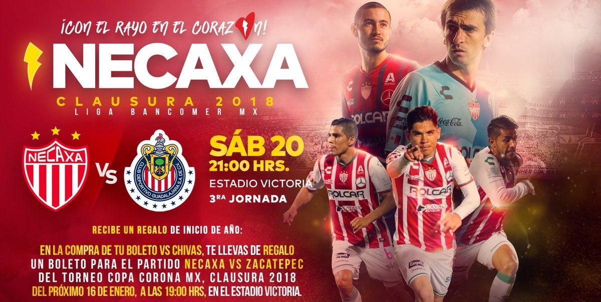 En que canal juega Necaxa vs Chivas en Vivo Liga MX 2018