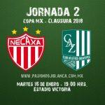 Necaxa vs Atlético Zacatepec en Vivo Copa MX 2018