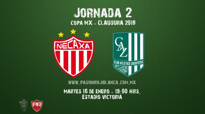 Necaxa vs Atlético Zacatepec en Vivo Copa MX 2018