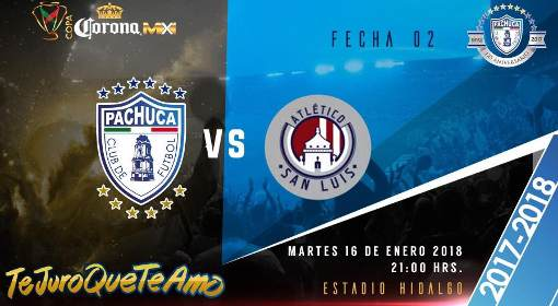 Pachuca vs Atlético San Luis en Vivo Fox Sports Copa MX 2018