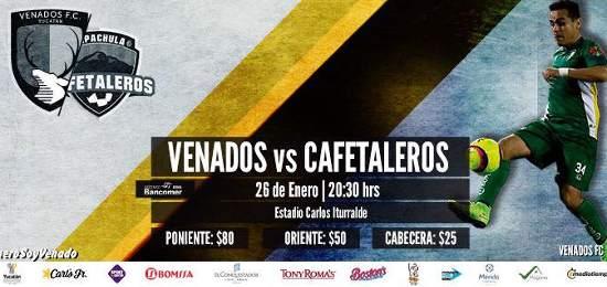 Por TVC Deportes en vivo Venados vs Cafetaleros 2018 Ascenso MX 2018