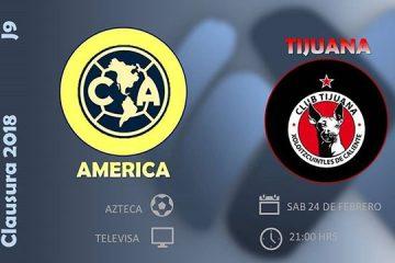 América vs Xolos en Vivo Online Liga MX 2018