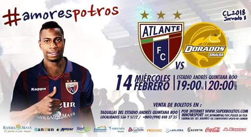 Atlante vs Dorados en Vivo Online Ascenso MX 2018