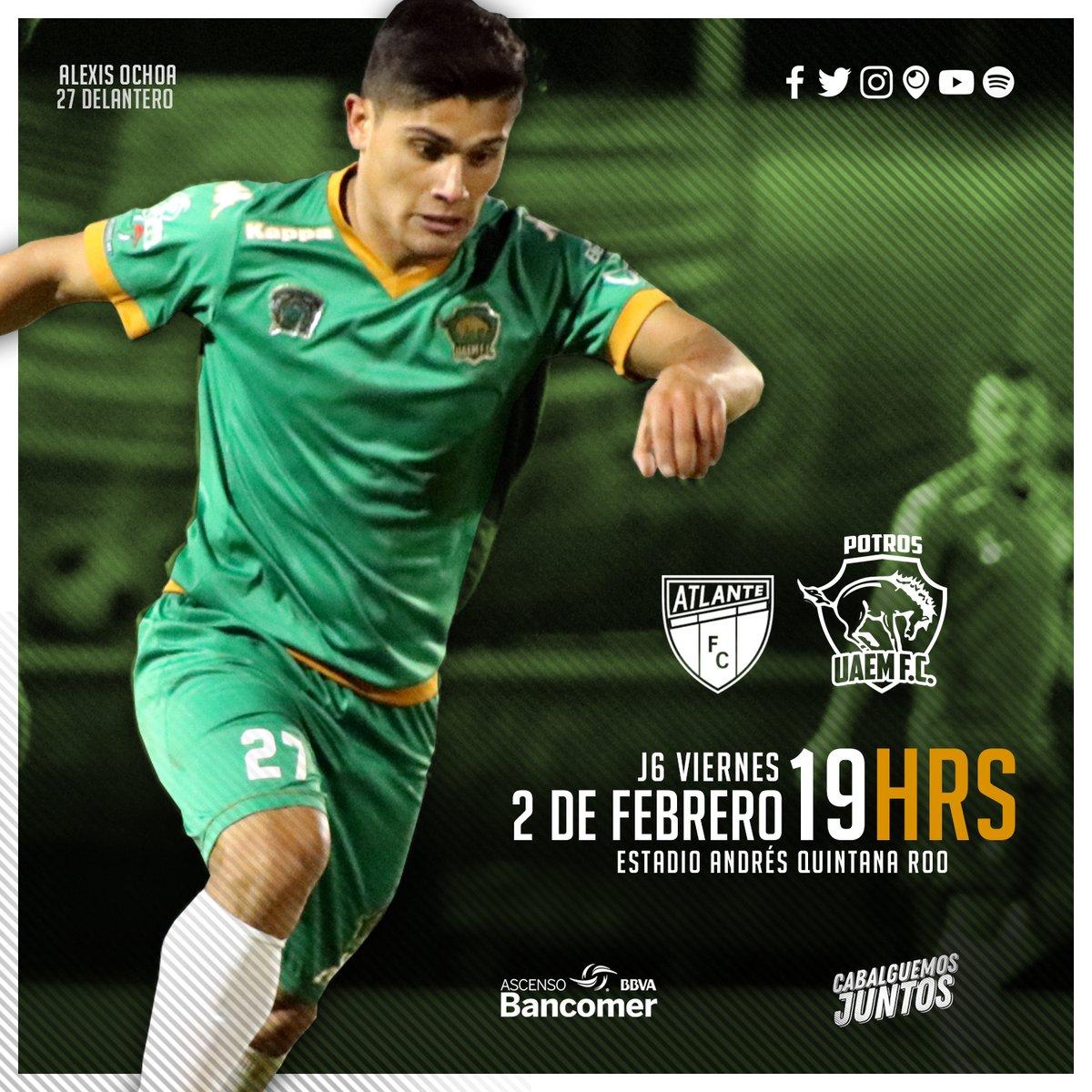 Atlante vs Potros UAEM en Vivo Online Ascenso MX 2018