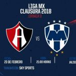 Atlas vs Rayados en Vivo Liga MX 2018