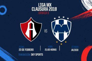 Atlas vs Rayados en Vivo Liga MX 2018