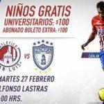 Atlético San Luis vs Pachuca en Vivo Copa MX 2018
