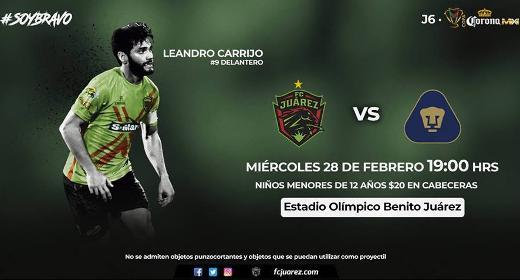 Bravos vs Pumas en Vivo Online Copa MX 2018