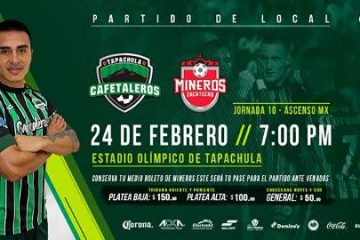 Cafetaleros vs Mineros en Vivo Ascenso MX 2018
