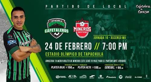 Cafetaleros vs Mineros en Vivo Ascenso MX 2018