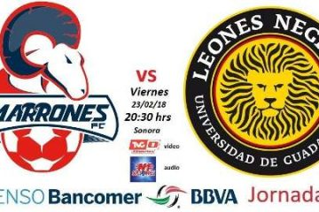 Cimarrones vs Leones Negros en Vivo Ascenso MX 2018