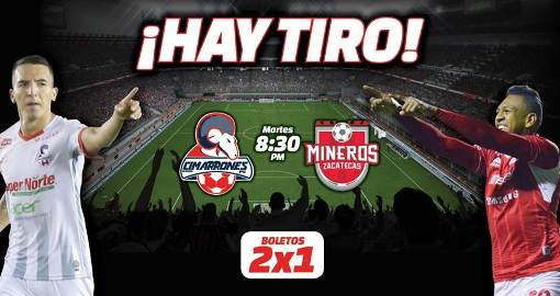 Cimarrones vs Mineros en Vivo Online Ascenso MX 2018