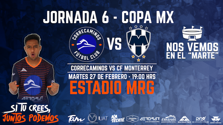 Correcaminos vs Rayados en Vivo Copa MX 2018