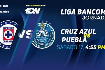 Cruz Azul vs Puebla en Vivo Liga MX 2018