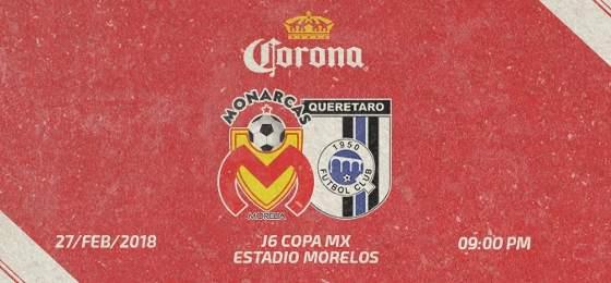 Morelia vs Querétaro en Vivo Copa MX 2018
