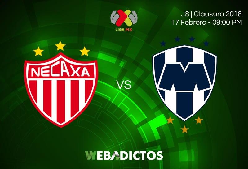 Necaxa vs Rayados en Vivo Liga MX 2018