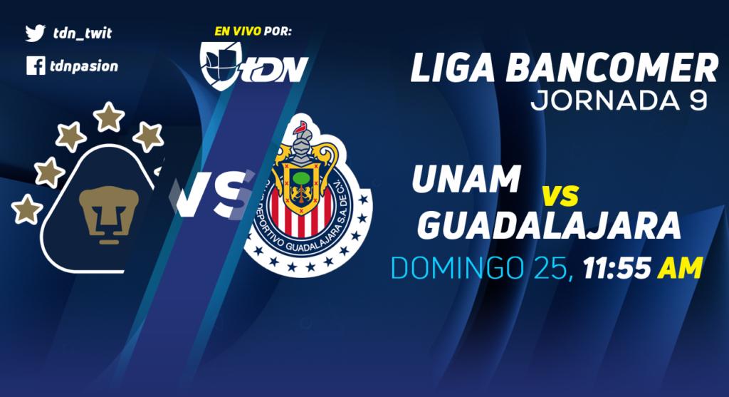 Pumas vs Chivas en Vivo Liga MX 2018