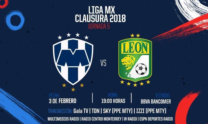 Rayados vs León en Vivo por TDN Liga MX 2018