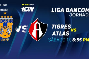 Tigres vs Atlas en Vivo Liga MX 2018