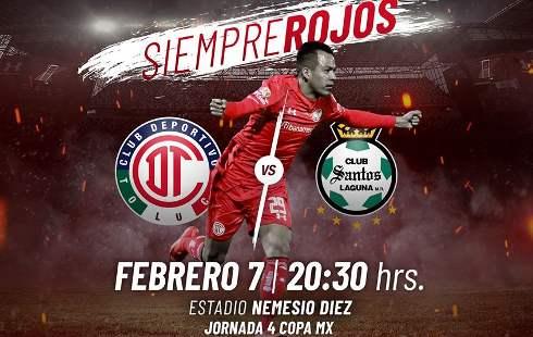 Toluca vs Santos en Vivo por Univision TDN Copa MX 2018