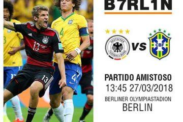 Alemania vs Brasil en Vivo Amistoso 2018