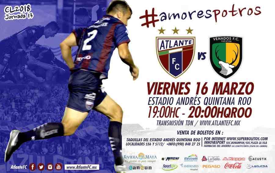 Atlante vs Venados en Vivo Online Ascenso MX 2018