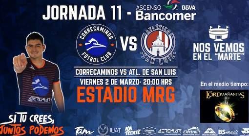 Correcaminos vs Atlético San Luis en Vivo Ascenso MX 2018
