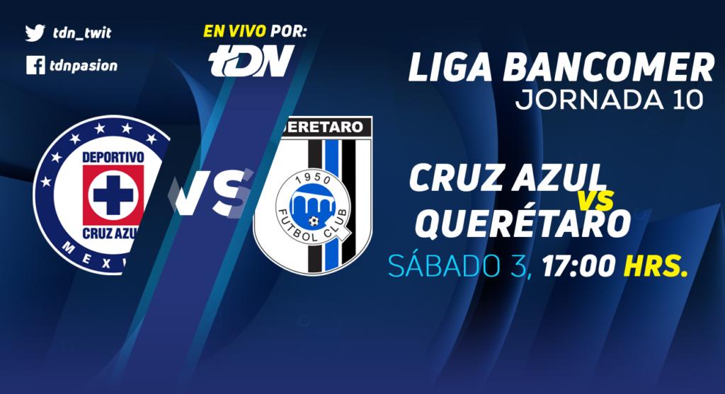 Cruz Azul vs Querétaro en Vivo Liga MX 2018