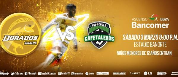 Dorados vs Cafetaleros en Vivo Ascenso MX 2018