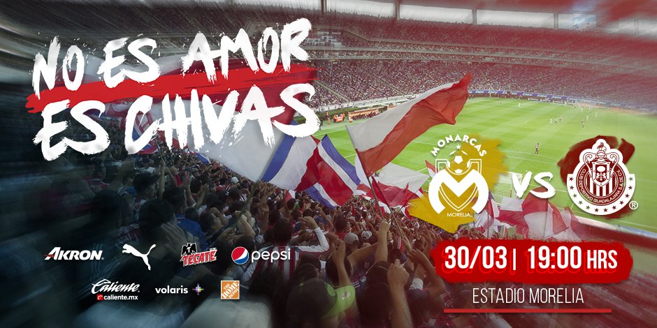Morelia vs Chivas en vivo Liga MX 2018