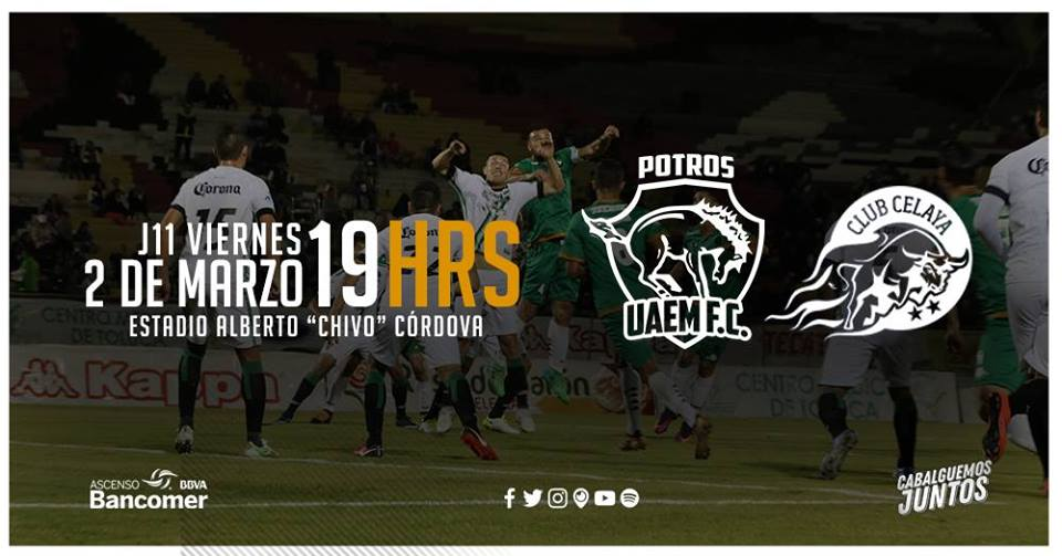 Potros UAEM vs Celaya en Vivo Ascenso MX 2018
