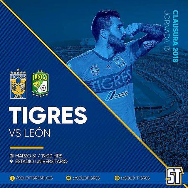 Tigres vs León en Vivo Online Liga MX 2018