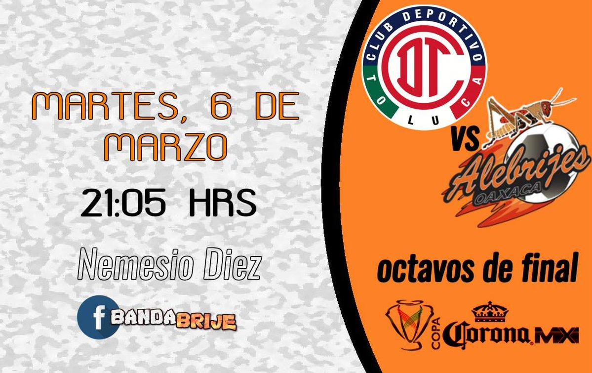 Toluca vs Alebrijes en Vivo Copa MX 2018