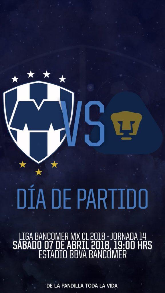 En que canal juega Rayados vs Pumas en Vivo Liga MX 2018