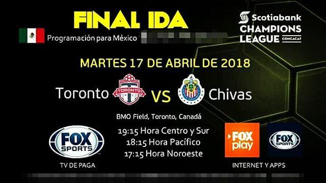 En que canal juega Toronto vs Chivas en Vivo previo Tijuana Guadalajara