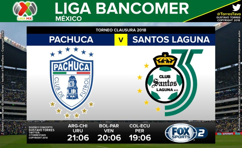 Fox Sports en Vivo Pachuca vs Santos Liga MX 2018