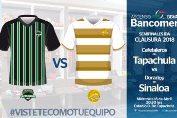 minuto a minuto Cafetaleros vs Dorados en Vivo Ascenso MX 2018