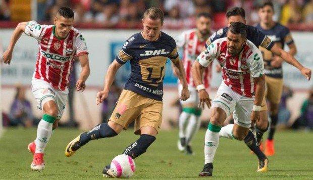 Minuto a minuto Pumas vs Necaxa en Vivo Liga MX 2018