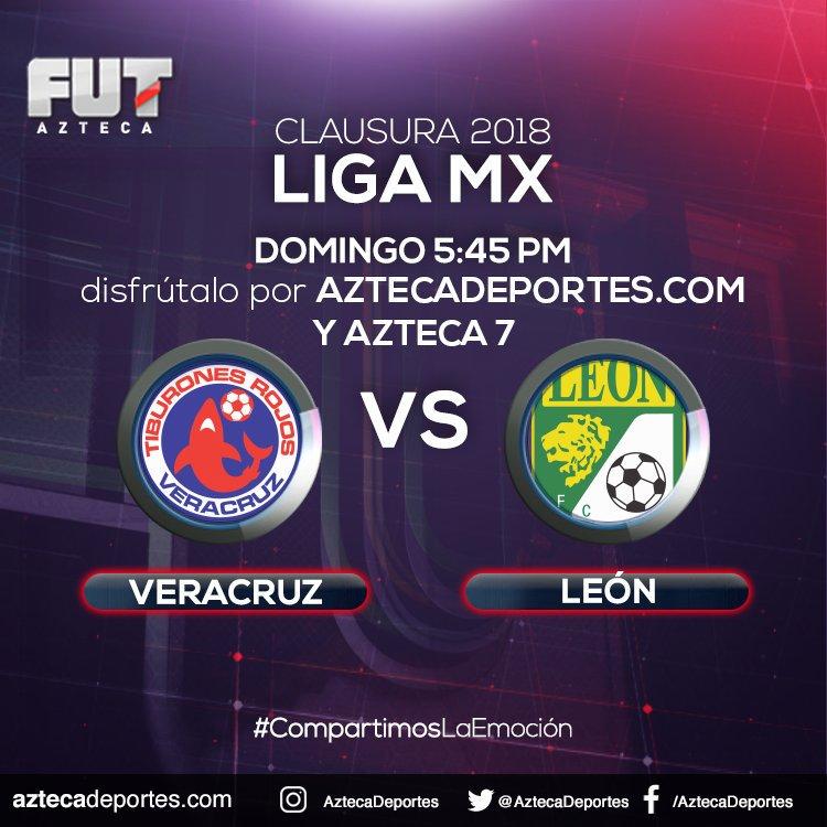 por Azteca Deportes en Vivo Veracruz vs León Liga MX 2018