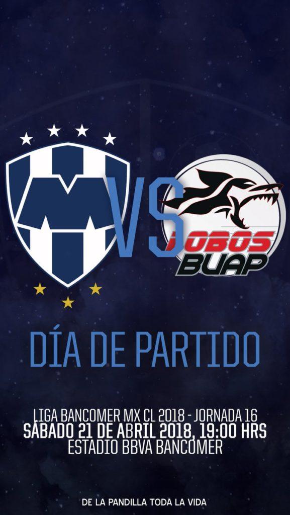 Rayados vs Lobos BUAP en Vivo Liga MX 2018